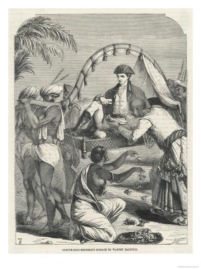 Cheyte Singh Rajah of Benares Flatters Warren Hastings--Giclee Print