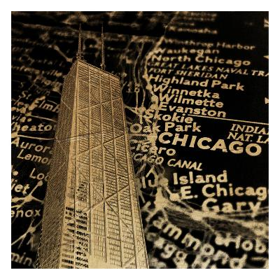 Chi Map-Jace Grey-Art Print