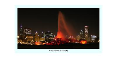 Chiago skyline Chicago White Sox  win-Patrick  J^ Warneka-Photographic Print