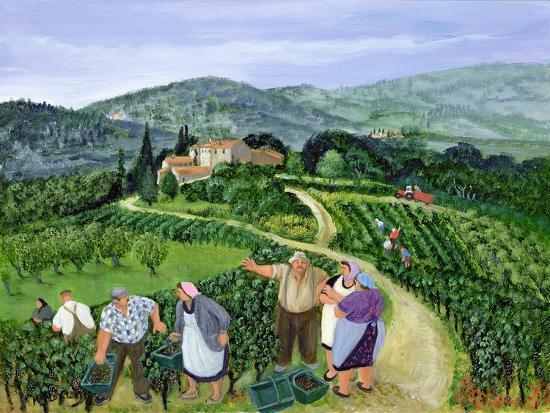 Chianti Classico, Villa Trasqua-Margaret Loxton-Premium Giclee Print