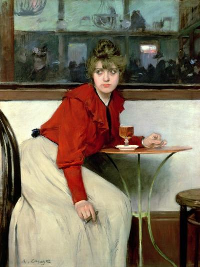 Chica in a Bar, 1892-Ramon Casas i Carbo-Giclee Print