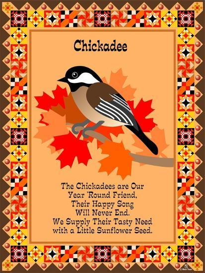 Chicadee Quilt-Mark Frost-Giclee Print