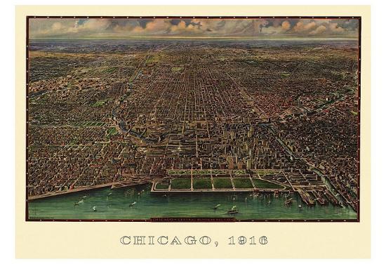 Chicago 1916-Reincke-Art Print
