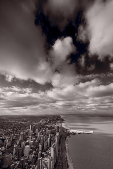 Chicago Aloft BW-Steve Gadomski-Photographic Print
