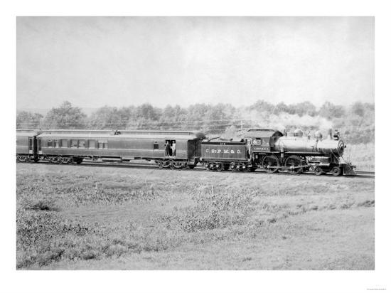 Chicago and Northwester Passenger Train Photograph - Chicago, IL-Lantern Press-Art Print