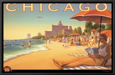 Chicago and Southern Air-Kerne Erickson-Framed Canvas Print