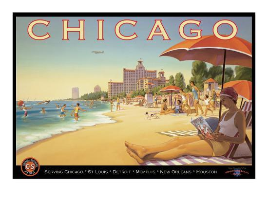 Chicago and Southern Air-Kerne Erickson-Giclee Print