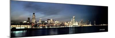 Chicago At Dusk--Mounted Print