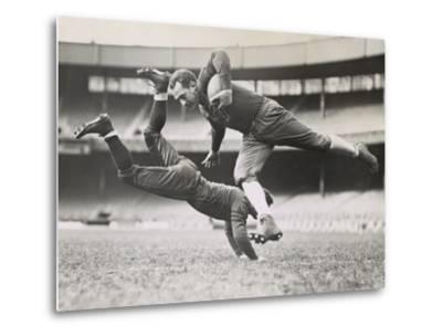 Chicago Bears Teammates Practicing as Joe Zeller Tries to Tackle Red Grange