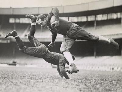Chicago Bears Teammates Practicing as Joe Zeller Tries to Tackle Red Grange