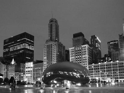 Chicago Black White-Patrick Warneka-Photographic Print