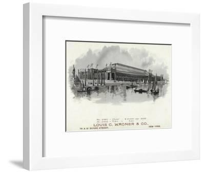 Chicago Brand Cigar Box Label-Lantern Press-Framed Art Print