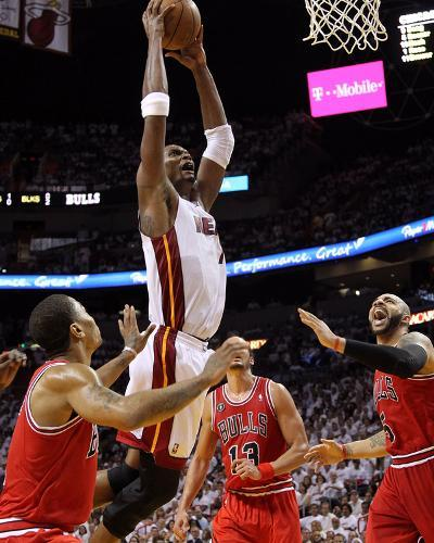 Chicago Bulls v Miami Heat - Game Three, Miami, FL - MAY 22: Chris Bosh-Mike Ehrmann-Photo