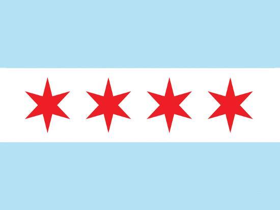 Chicago City Flag Poster Print--Art Print