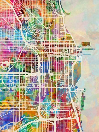 Chicago City Street Map Art Print by Michael Tompsett | Art.com on 1880 chicago map, magnificent mile map, downtown chicago map, chicago walking map, city of chicago map, chicago zip code map, chicago cemetery map, chicago highway map, chicago illinois map, logan park chicago map, south side chicago map, chicago district map, chicago sightseeing map, chicago on a map, 4th ward chicago map, chicago loop map, chicago suburbs map, chicago block map, chicago house number map, chicago harbour map,