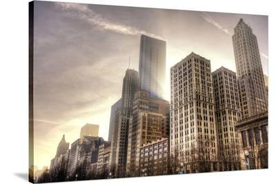 Chicago Downtown Afternoon--Stretched Canvas Print