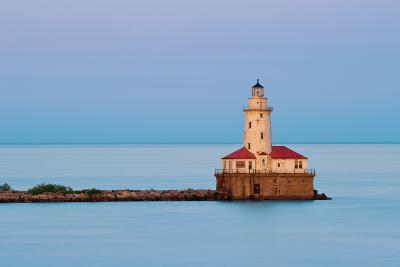 Chicago Harbor Light.-rudi1976-Photographic Print