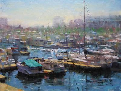 Chicago Harbor-Mark Lague-Art Print