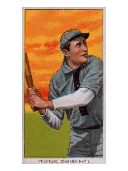 Chicago Il Chicago Cubs Big Jeff Pfeffer Baseball Card Art Print By Lantern Press Artcom