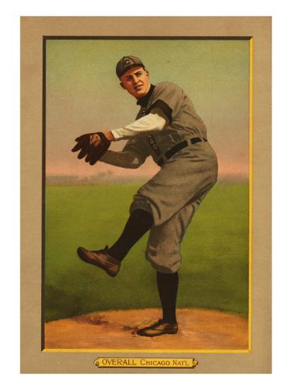 Chicago Il Chicago Cubs Orval Overall Baseball Card Art Print By Lantern Press Artcom