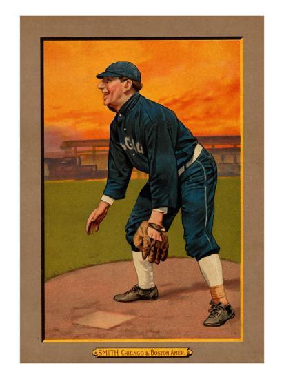 Chicago Il Chicago White Sox Frank Smith Baseball Card Art Print By Lantern Press Artcom