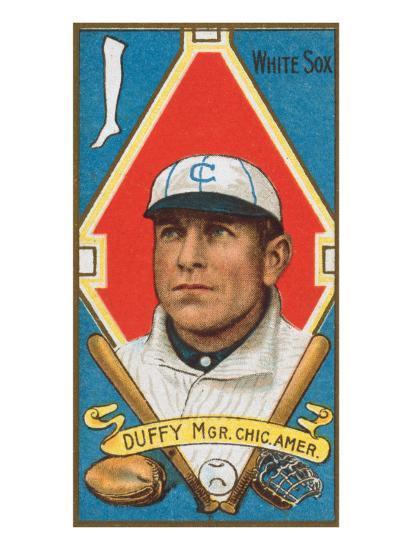 Chicago Il Chicago White Sox Hugh Duffy Baseball Card Art Print By Lantern Press Artcom