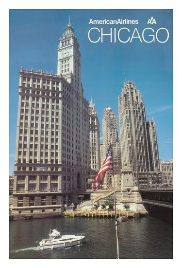 Chicago, Illinois - American Airlines--Giclee Print