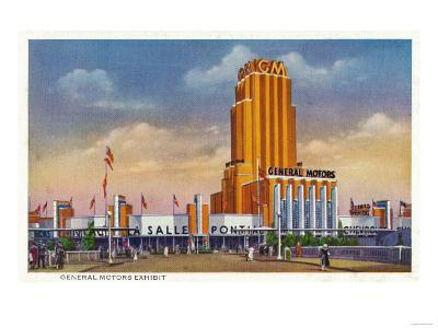 Chicago, Illinois - General Motors Exhibit, 1934 World's Fair-Lantern Press-Art Print