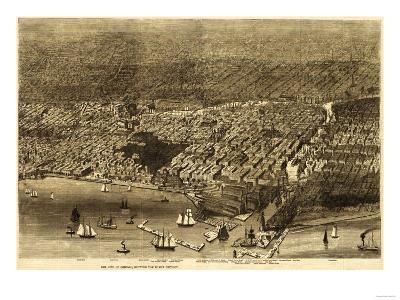 Chicago, Illinois - Panoramic Map No. 1-Lantern Press-Art Print