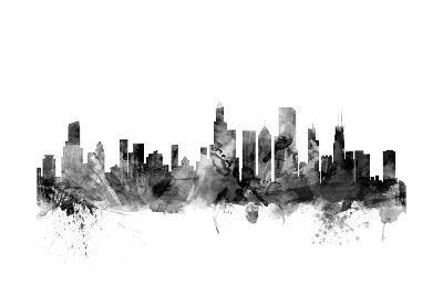 Chicago Illinois Skyline-Michael Tompsett-Art Print