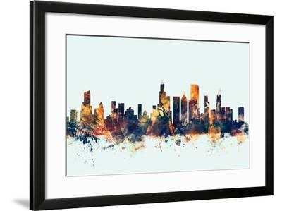 Chicago Illinois Skyline-Michael Tompsett-Framed Art Print