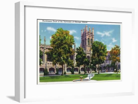 Chicago, Illinois, University of Chicago, View of Hutchinson Court-Lantern Press-Framed Art Print