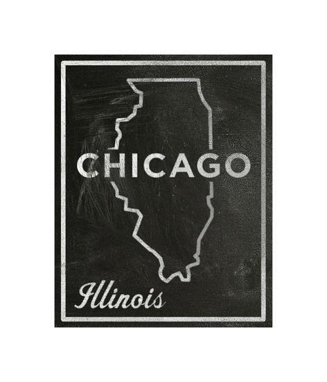Chicago, Illinois-John Golden-Giclee Print