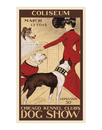 Chicago Kennel Club's dog show-George Ford Morris-Art Print