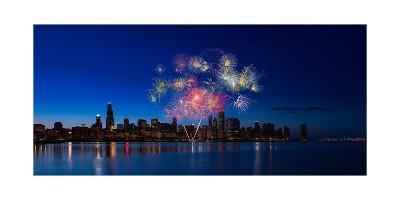 Chicago Lakefront Fireworks-Steve Gadomski-Photographic Print