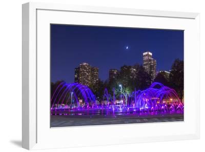 Chicago Moonlight-NjR Photos-Framed Giclee Print