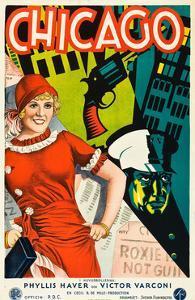 Chicago, Phyllis Haver on Swedish Poster Art, 1927