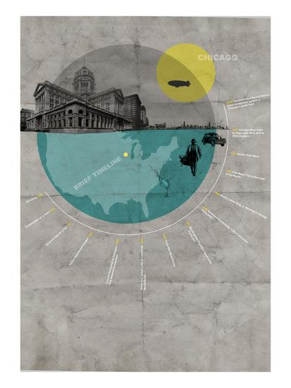 Chicago Poster-NaxArt-Art Print