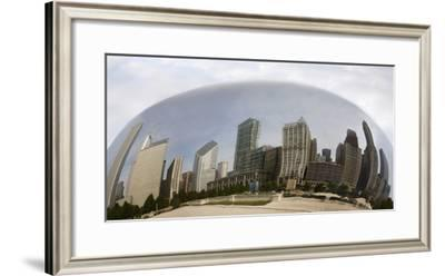 Chicago Reflections, Chicago, Illinois 07-Monte Nagler-Framed Photographic Print