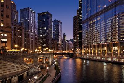 Chicago River Dusk II-Larry Malvin-Photographic Print