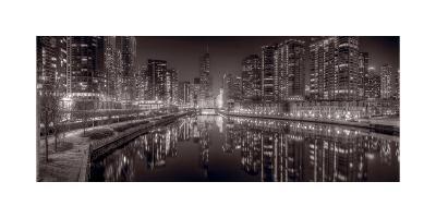 Chicago River East BW-Steve Gadomski-Photographic Print