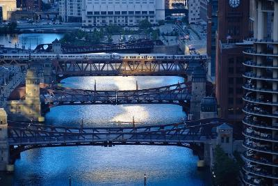 Chicago River First Light-Steve Gadomski-Photographic Print