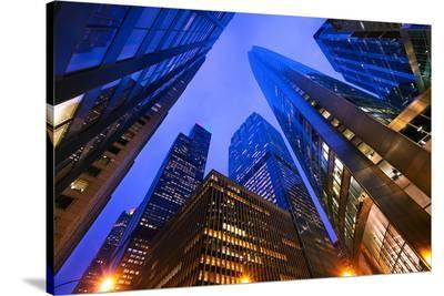 Chicago's Skyscrapers at Dusk--Stretched Canvas Print