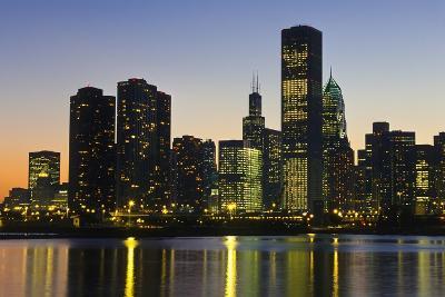 Chicago Skyline at Night-Design Pics Inc-Photographic Print