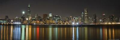 Chicago Skyline Colorful Reflection-Patrick Warneka-Photographic Print