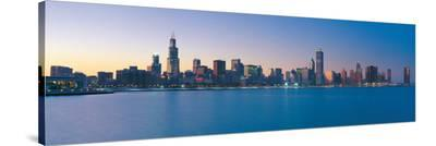 Chicago Skyline II--Stretched Canvas Print