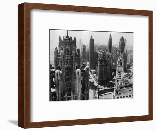 Chicago Skyscrapers in the Early 20th Century-Bettmann-Framed Photographic Print
