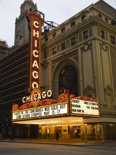 Chicago Theatre, Chicago, Illinois, United States of America, North America-Amanda Hall-Photographic Print