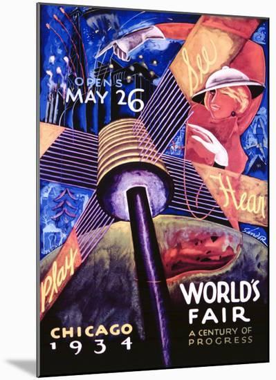 Chicago World's Fair, 1934-Sandor-Mounted Giclee Print