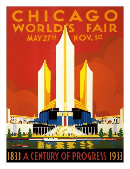 Chicago World's Fair - A Century of Progress, 1833-1933--Giclee Print